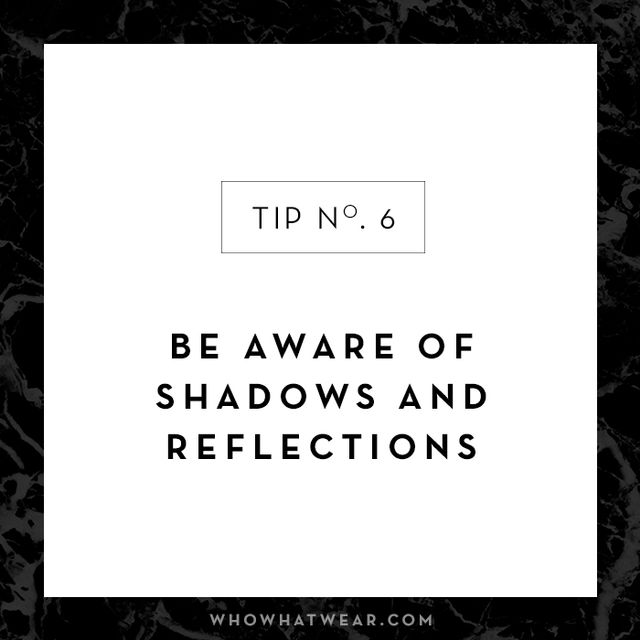 Experiment with your #OOTD by playing with shadows and reflections to create depth.