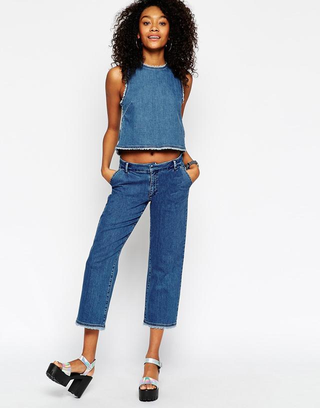 ASOS Denim Tailored Wide Leg Jeans