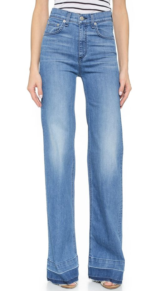 Rag & Bone/JEAN The Justine Wide Leg Jeans