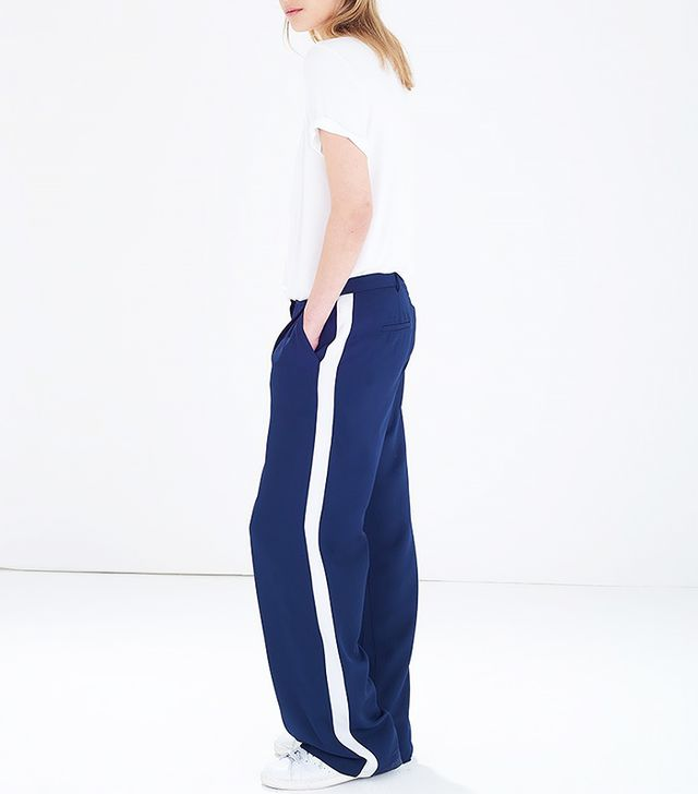 Atterley Road Navy Wide-Leg Trousers