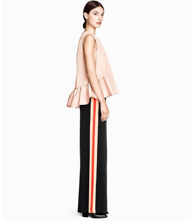 H&M Wide-Leg Silk Pants