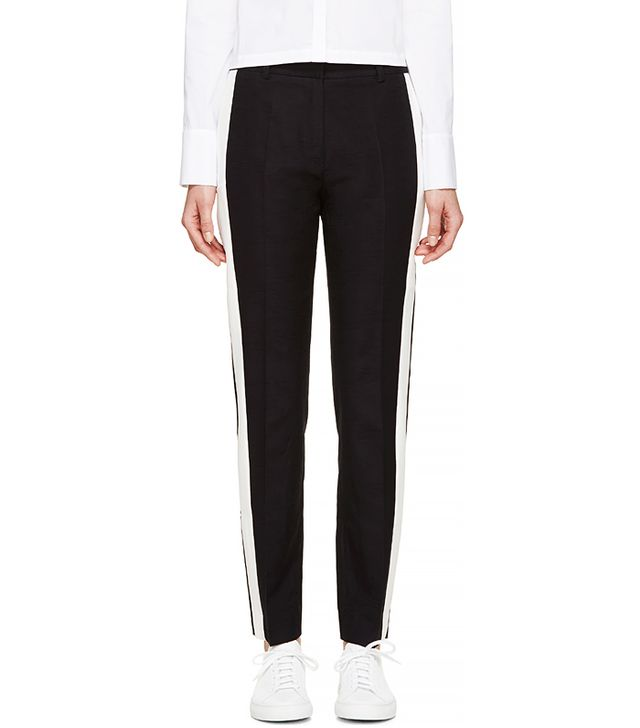 Harmony Blue Striped Page Trousers