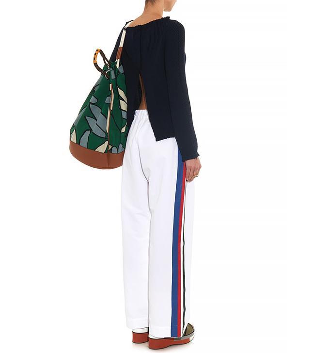 Marni Side-Stripe Wide-Leg Trousers