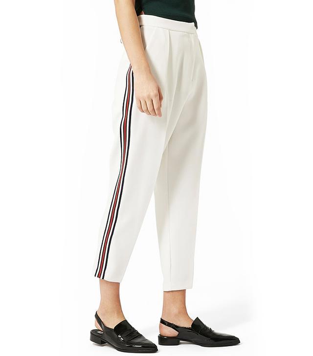 Topshop Side-Stripe Peg Trousers