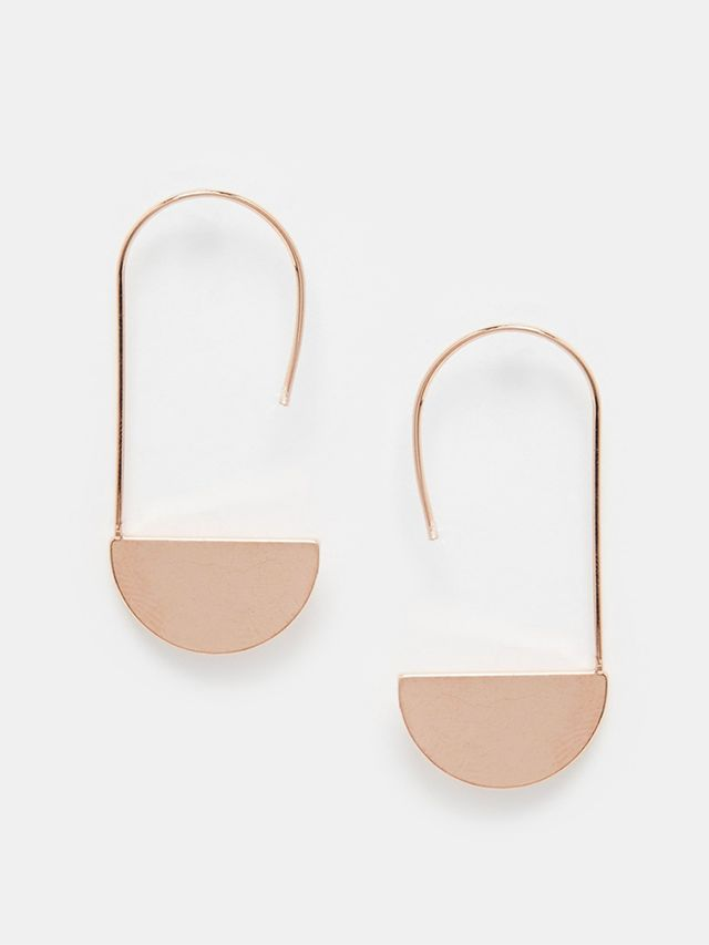 ASOS Limited Edition Semi Circle Through Earrings