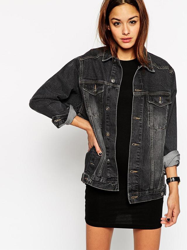ASOS Denim Black Western Jacket