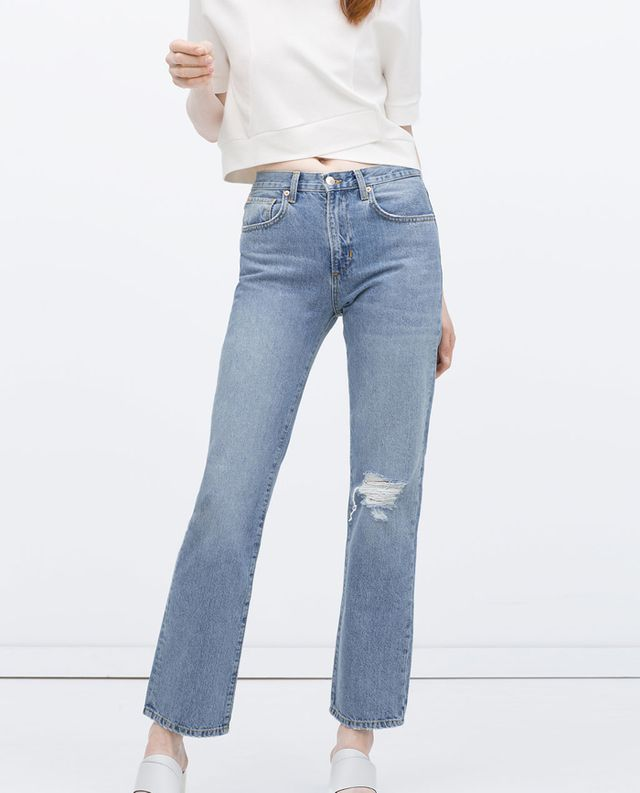 Zara Ripped Knee Jeans