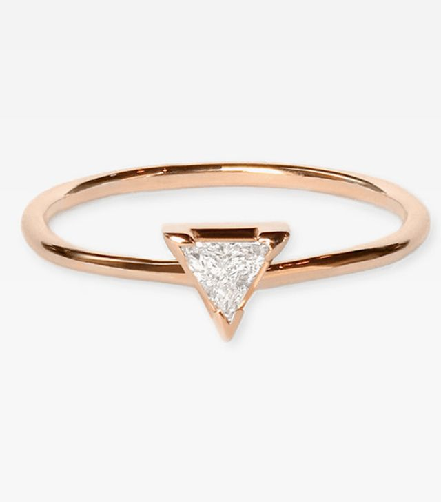 Vrai & Oro Trillion Diamond Ring