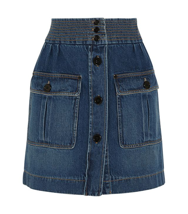 Chloé Stonewashed Denim Mini Skirt