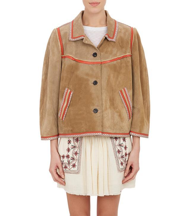 Isabel Marant Étoile Embellished Suede Bolton Jacket