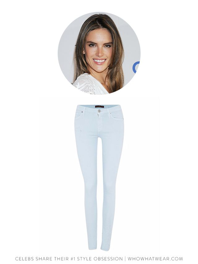 7 for All Mankind The Skinny Jean in Pastel Blue