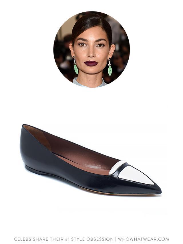 Tabitha Simmons Black & White Alexa Flat