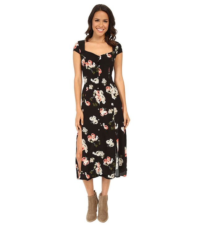 Mink Pink Moon Flower Midi Dress