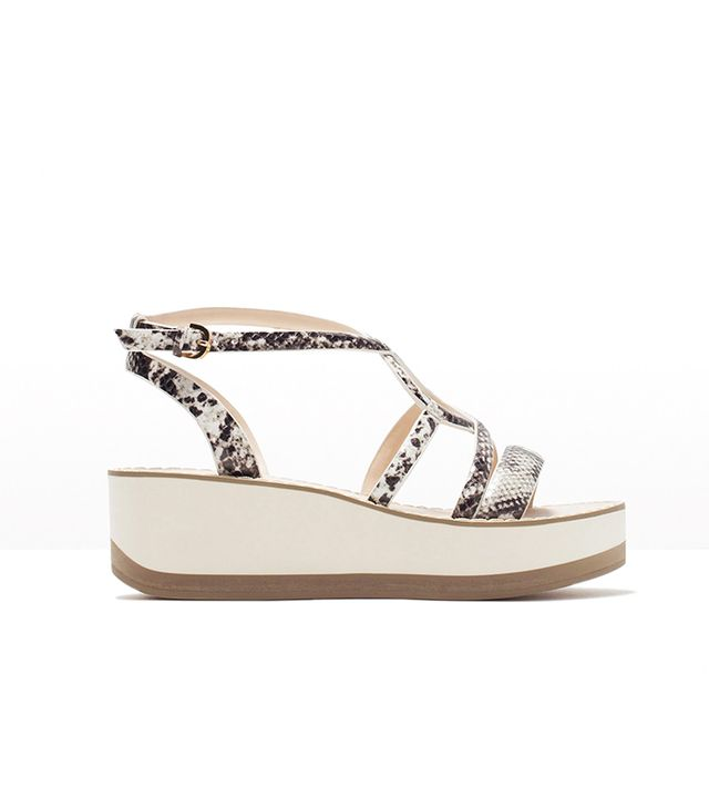 Zara Printed Wedges