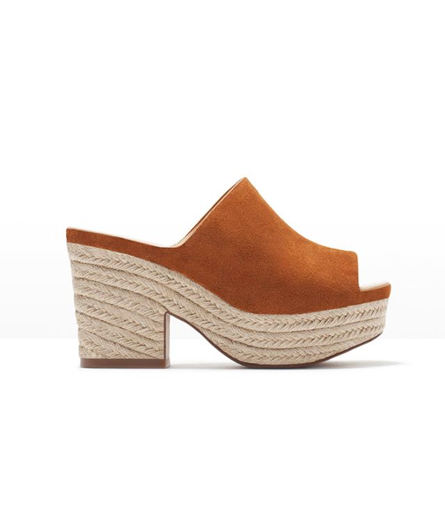 Zara Leather Wedge Shoes