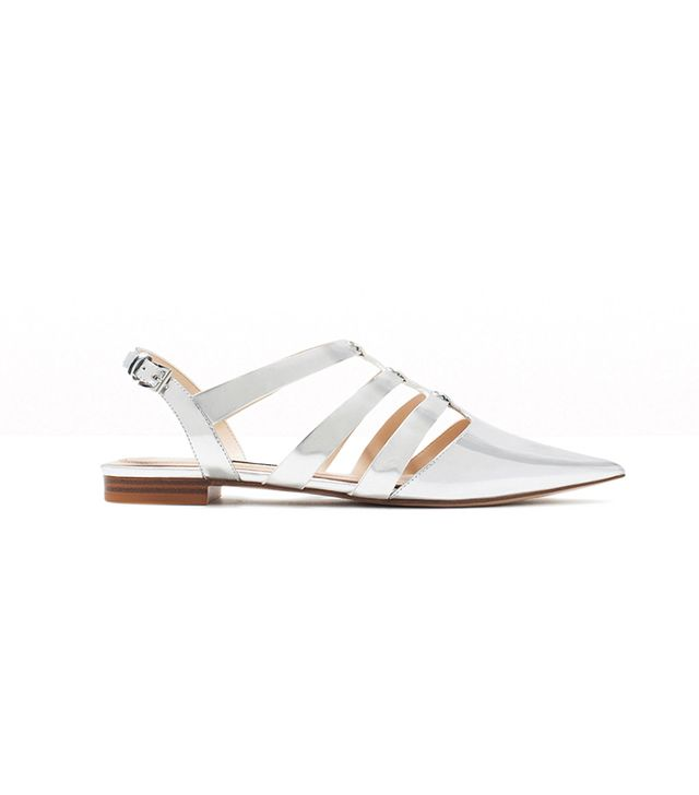 Zara Shiny Straps Flat Shoes