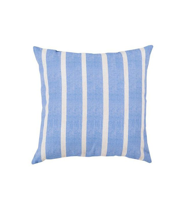 One Kings Lane Stripes 18x18 Outdoor Pillow