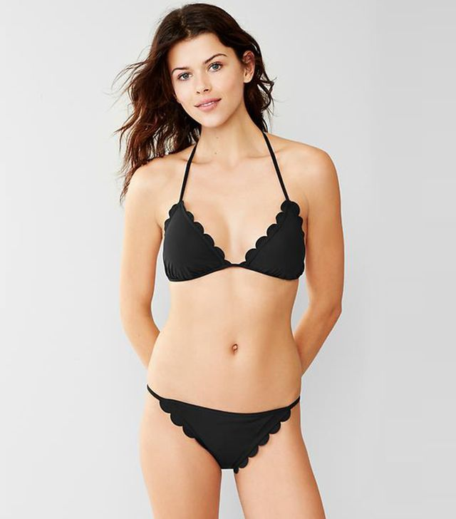 Gap Scallop-Trim Triangle Bikini Top