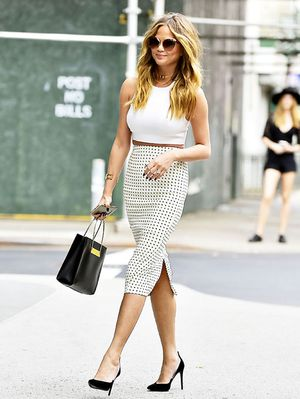How Chrissy Teigen Dresses Up for a Lunch Date