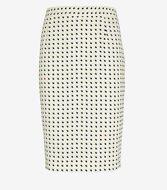 A.L.C. Bell Happy Pill Print Pencil Skirt