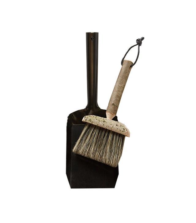 Geoffrey Fisher Hewn Handle Brush & Dustpan
