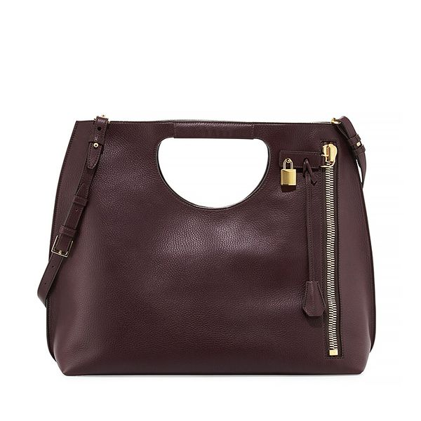 Tom Ford Alix Leather Padlock Tote Bag