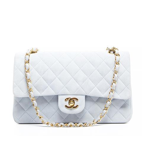 Blue Lambskin Medium 2.55 Double Flap Bag