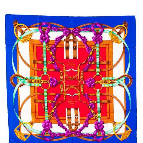 Vintage Grand Manege Silk Twill Scarf