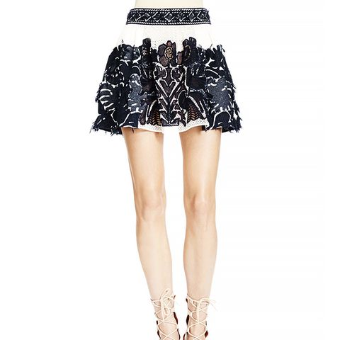 Folkloric Patched Lace Skirt