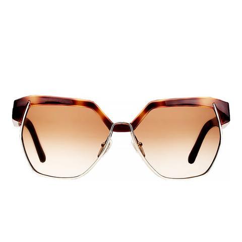 Universal Fit Dafne Mirrored Hexagonal Sunglasses
