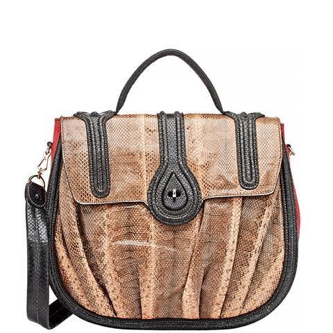 Snakeskin Aidha Shoulder Bag