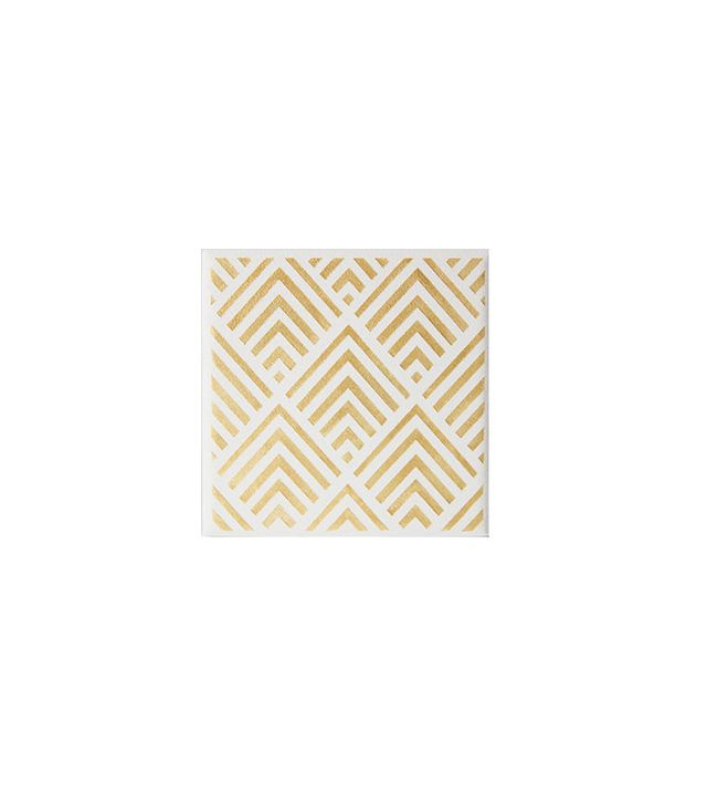 The Coastal Gold Geometric Hand-Painted Coasters