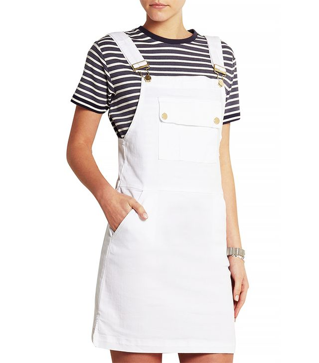 Frame Denim Le Apron Mini Dress