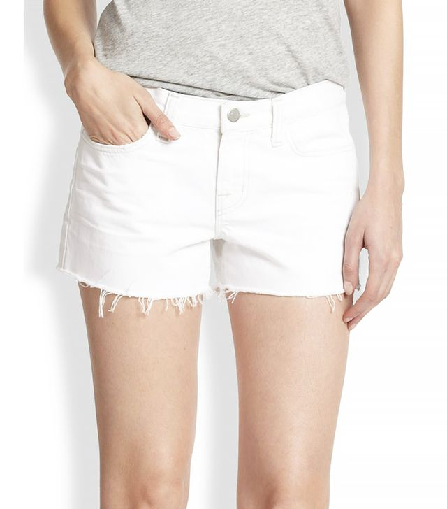 J Brand Low-Rise Cut-Off Denim Shorts