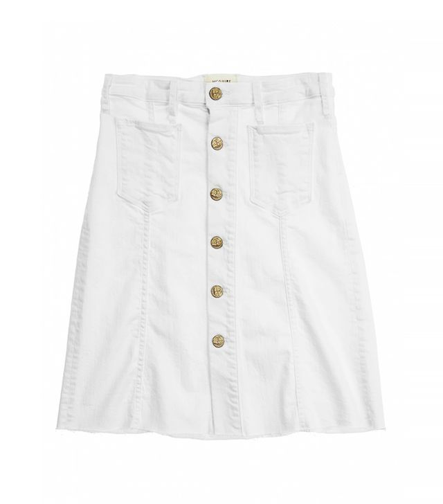 McGuire Denim Colombier White Denim Skirt