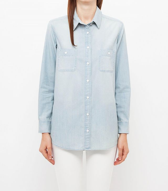 Uniqlo Pure Blue Chambray Shirt