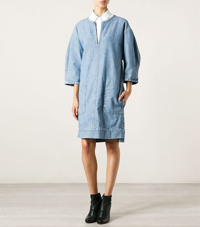 See by Chloé Striped Denim Dress