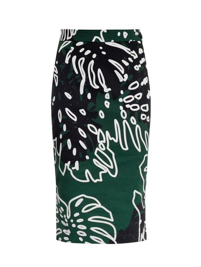 Vivienne Westwood Anglomania Cheese Plant-Print Pencil Skirt