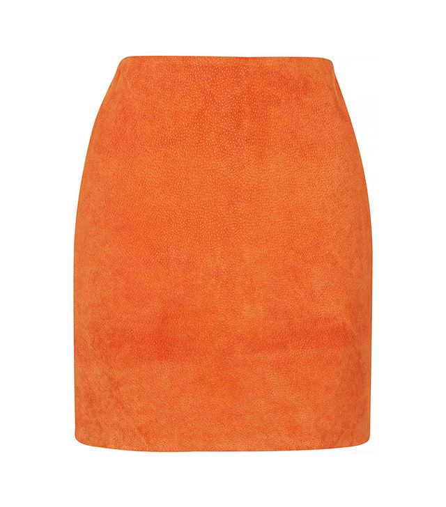 Topshop Suede Mini Skirt by Boutique