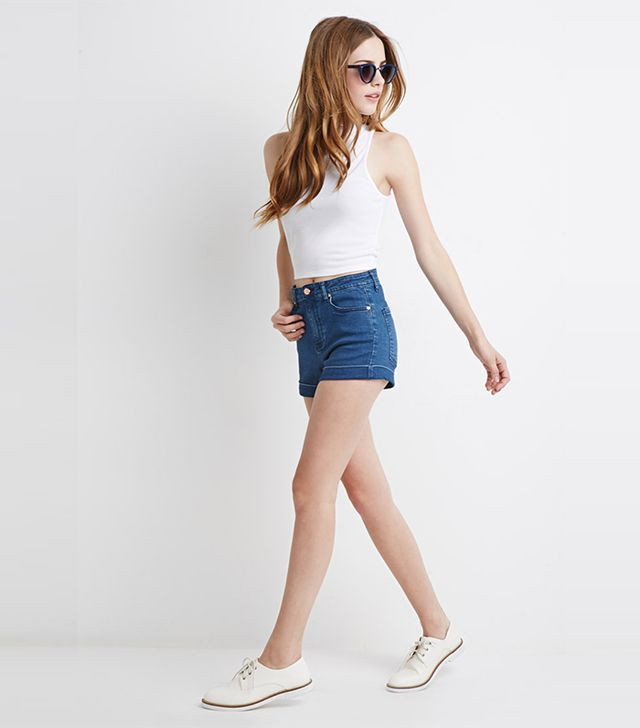 Forever 21 Mid-Rise Denim Shorts