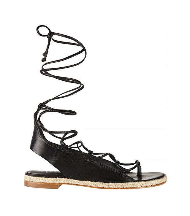 Tibi Camilo Leather Sandals