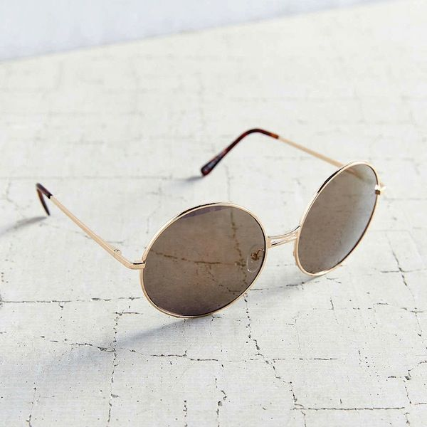 Urban Outfitters Disco Metal Round Sunglasses