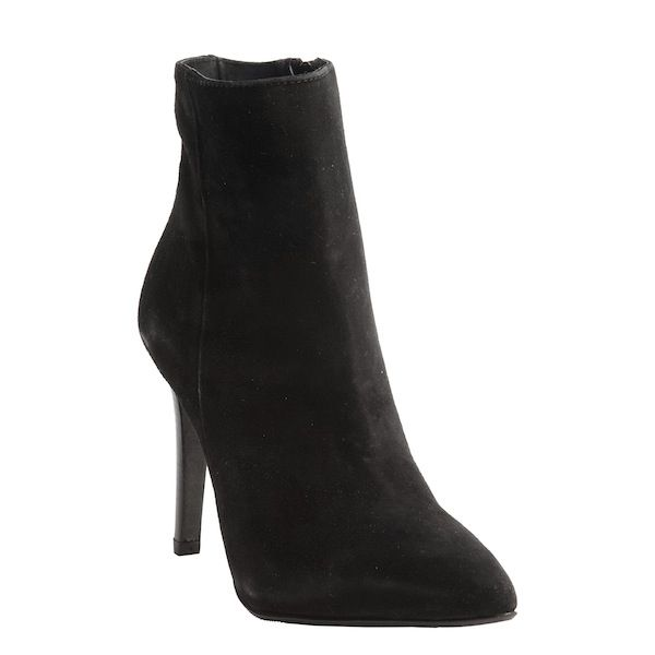 Charles David Black Suede Dubio Stiletto Ankle Boots