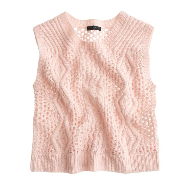 Ryan Roche for J.Crew Hand-Knit Cashmere Sweater-Vest