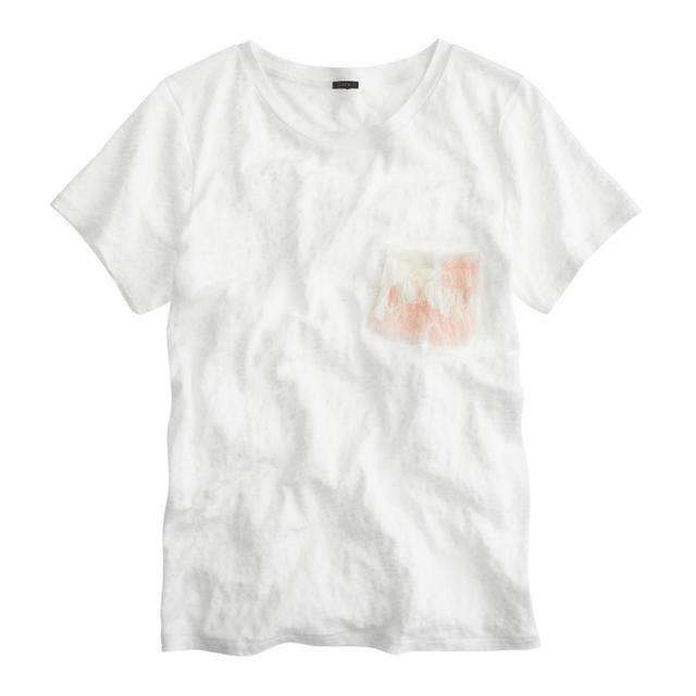 Ryan Roche for J.Crew Fringe Pocket T-Shirt