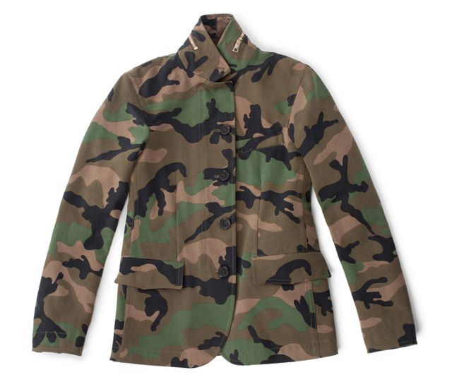 Valentino Cash & Rocket Camouflage Cotton Jacket