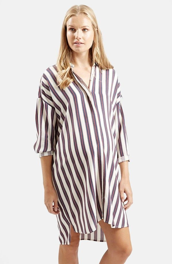 TOPSHOP Maternity Stripe Shirtdress