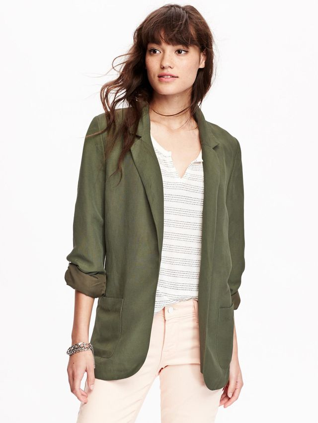 Old Navy Women's Linen-Blend Blazer