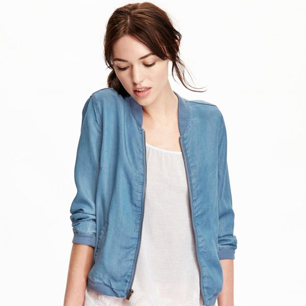 Old Navy Chambray Bomber Jacket