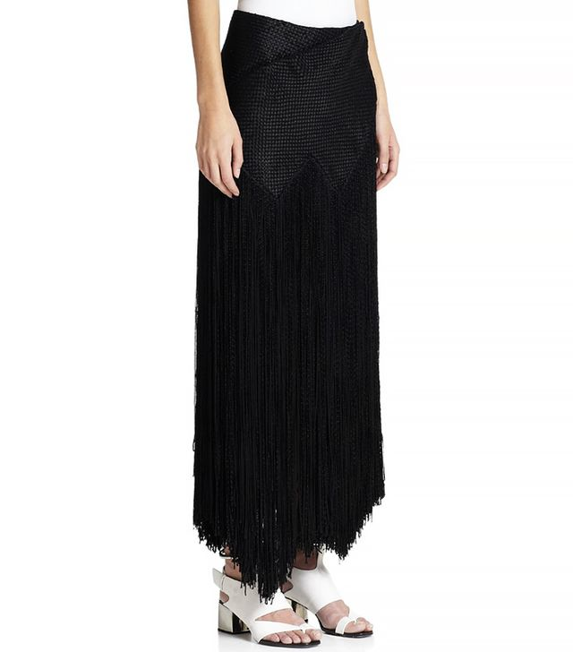 Proenza Schouler Fringed Basketweave Skirt